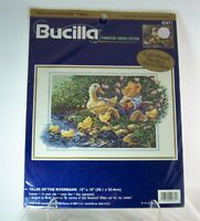 Bucilla Tales of the Riverbank Counted Cross Stitch Kit #42671 Multi Lingual Kit