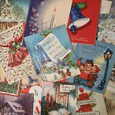 Vintage Lot Of 24 Christmas Greeting Cards Decorating Scrapbooking H