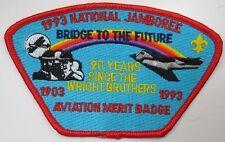 1993 National Jamboree Aviation Merit Badge STAFF Red Border JSP [G1071]