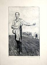 Hans thoma sämann IV 1915 Beringer 183 Gravure Etching singiert rare