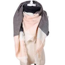 Lady's Winter Tartan Check Neck Shawl Warm Scarf Lady Wrap Stole Plaid Pashmina