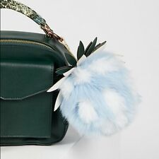 Free People Pineapple Faux Fur Keychain New with Tag