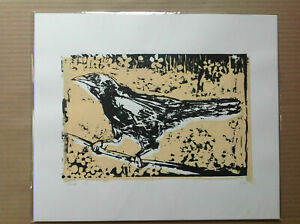 Bird, original limited edition 2 colour screenprint - nature - urban - animals