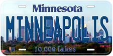 Minneapolis Minnesota Novelty Car License Plate