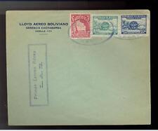 1929 Bolivia First Flight Cover FFC Lloyd Aereo LAB