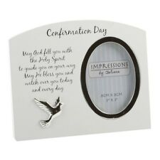 Confirmation white Photo Frame with verse NEW Gift Idea  14627