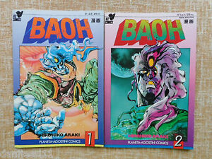 Comic, Baoh, nº 1 y 2 de 8, Hirohiko Araki, Viz Comics, 1992, Planeta DeAgostini