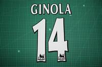 F.A. Premier League Player Size Name & Numbering Printing #14 GINOLA