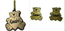 Matching Necklace Nameplate and Post Stud Earrings Custom TeddyBear Personalized