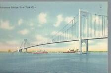 Bronx-Whitestone Suspension Bridge The Bronx & Queens New York City Postcard