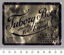 Danish Beer Label - Tuborg Brewery - Denmark - Tuborg Beer (Export)