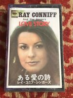 ray conniff & the singers love story .  japanese music card . cassette .