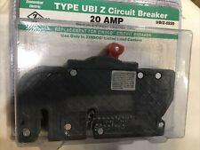 Zinsco Type Ubi Z 20 Amp 2 Pole Breaker