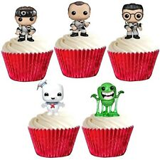 GHOSTBUSTERS edible cup cake toppers decorations *STAND UPS* GHOST BUSTERS