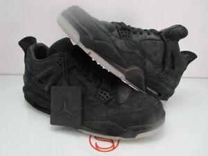 2017 Nike Air Jordan IV 4 Retro KAWS BLACK 12 (REPLACEMENT BOX)