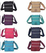 Womens Girls Nylon Multi Pocket Bag Small Cross Body Shoulder Ladies Handbag
