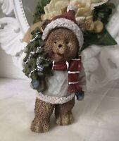 Deko Figur Bär Weihnachten Christmas Deko 20cm Shabby Vintage Landhaus
