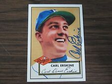 1995 Dodgers Archive #15 Carl Erskine Autographed / Signed card Brooklyn Dodgers