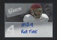 "MARK BARRON  2012 Press Pass ""ROLL TIDE"" INSCRIPTION Autograph RC  Alabama"