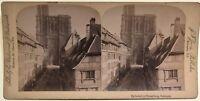 Cattedrale di Strasburgo Fotografia Stereo Vintage Albumina