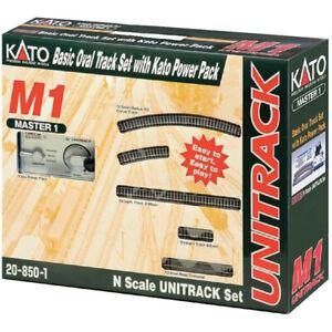 Kato 208501 Unitrack M1 - Basic Oval Track Starter Set w/Kato Power Pack N Scale