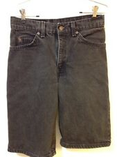 Vintage Levi's 550 Orange Tab Student Fit 28 Black Denim Shorts USA