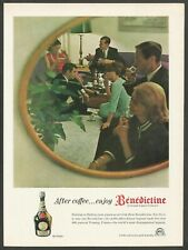 BENEDICTINE La Grande Liqueur Francaise - 1964 Vintage Print Ad