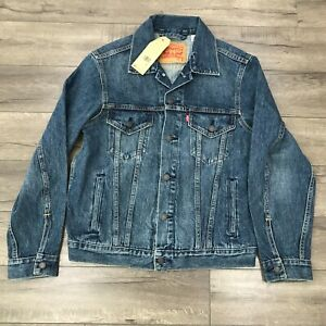 New Levi's Leaf It Better Than You Found It Vintage Fit Trucker Jacket Men Small