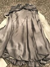 Mara Hoffman Silk Silver Mini Party Dress Size XS