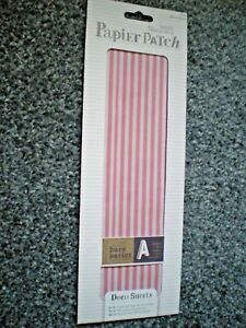 Brand New & Sealed 'Red Stripes' Deco Papier Patch Sheets Pack