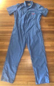 Vintage Dickies Blue Mechanics Jumper Coveralls Jumpsuit Sz L Reg Nice Costume