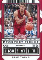 Trae Young 2020-21 Contenders Draft Picks Prospect Ticket Variation Card #23 OU