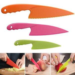 Kids Kitchen Plastic Fruit Safe Tool For Bread Lettuce Cake DIY Salad New