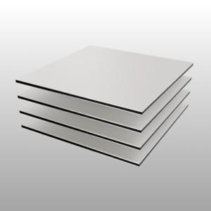 Aluminium Dibond Verbund Zuschnitt Platte weiß matt 3-4mm TOP