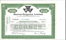 Massey Ferguson Limited (Canada).1965 Common Stock Certificate