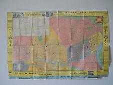 Indochine Street Map Saigon-Cholon Vietnam 1955 Viet & French-Extremely Rare