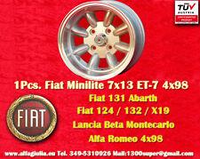 1 Wheel Fiat Minilite 7x13 4x98 N.1 Wheel Felge Lancia Beta Alfa Llanta Jante