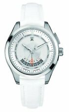 Timex TX Men's T3C503 400 Series Perpetual Weekly Calendar White & Silver Watch