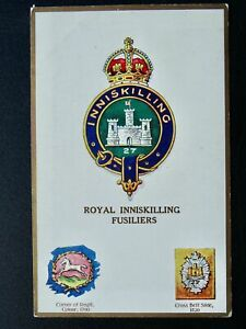Regimental Badges ROYAL INNISKILLING FUSILIERS Postcard by Gale & Polden 1677