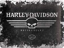 Harley Davidson metal Sign - Skull