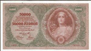 AUSTRIA BILLETE 50000 KRONEN AÑO 1922 VF+