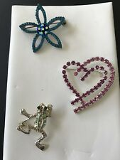 your lapel, purse, jacket or scarf 🧣 So cute, 3 Beautiful Lapel Pins, put on