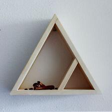 MENSOLA da Parete Triangolare SCAFFALE MENSOLE Visualizzazione Stoccaggio a casa NUOVO STAND IN LEGNO