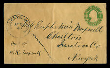 US 185?.AUG.4  CALIFORNIA GOLD RUSH cover (Sc# U18 ) - PLACERVILLE, Ca to NY