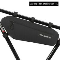 ROCKBROS Mountain Bike Bicycle Front Beam Bag Top Tube Bag Waterproof