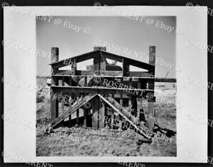 1944 an element C Anti Tank obstacle towed from the Sea #2  W.O. photo 12 by 9cm