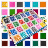 Stempelkissen Set 24 wasserlösliche Farben Fingerabdruck Fingerfarbe int!rend