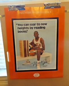 Vintage Michael Jordan 1985 Rookie Chicago Bulls Read World Books Poster