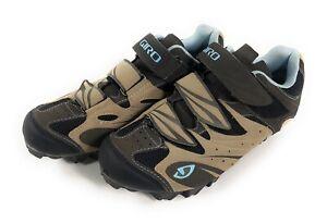 Giro Reva Cycling Mountain Bike Shoes Womens Size US 7 EU 38.5 With Cleats