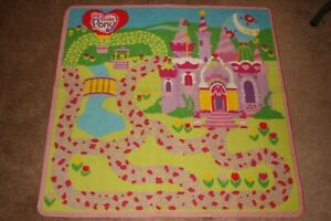 My Little Pony Play Rug Mat Girls Pink Princess Castle Cobblestone Road 39x39""